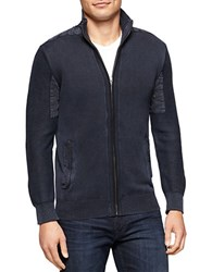 Calvin Klein Jeans Zip Up Cardigan Sweater Blue
