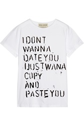Etre Cecile Richie Culver Don't Wanna Date Cotton Jersey T Shirt