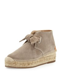 Rag And Bone Gena Suede Espadrille Bootie Warm Gray Warm Grey