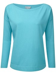 Pure Collection Dahlia Jumper Summer Turquoise