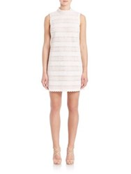 Abs By Allen Schwartz Crochet Lace Shift Dress Ivory