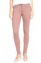 Mavi Jeans Gold 'Alexa' Stretch Skinny Pants Mauve Gold Sateen