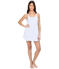Kate Spade Jersey Chemise Classic Stripe Pale Aster Women's Pajama White