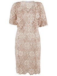 Gina Bacconi Guipure Lace Dress And Jacket Cookies Cream