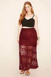 Forever 21 Plus Size Lace Maxi Skirt