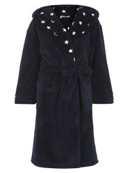 Dorothy Perkins Petite Star Textured Robe Blue