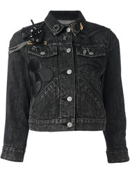 Marc Jacobs Mickey Mouse Patch Denim Jacket Black