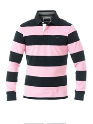 Eden Park Wide Striped Rugby Polo Shirt Multi Coloured