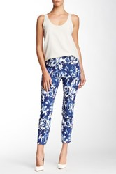 Insight Printed Techno Faux Fly Pant Blue