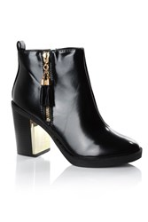 Alice And You Tassle Detail Chelsea Boots Black