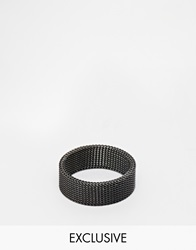 Reclaimed Vintage Mesh Ring Silver