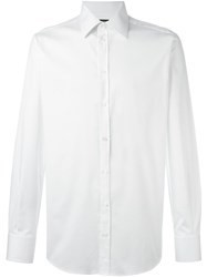 Dolce And Gabbana Spread Collar Shirt White