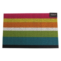 Chilewich Large Stripe Shag Rug Multi 61X91cm