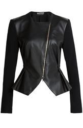 Roland Mouret Lycosa Perforated Leather Jacket
