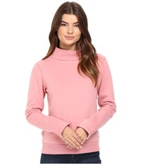 Bench Repay Mock Neck Sweatshirt Brandied Apricot Women's Sweatshirt Pink