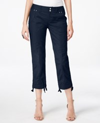 Inc International Concepts Cropped Cargo Pants Only At Macy's Deep Twilight
