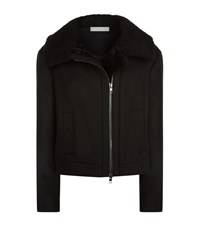 Vince Moto Shearling Jacket Female