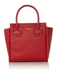 Lulu Guinness Lyra Red Small Lip Applique Tote Bag Red