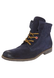 Nobrand Booze Laceup Boots Navy Dark Blue