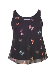 Chesca Butterfly Print Camisole Black