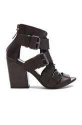 Marsell Marsell Buckled Lace Up Leather Booties In Black