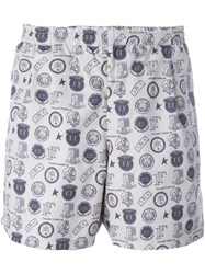 Golden Goose Deluxe Brand 'Greg' Reversible Swim Shorts Grey