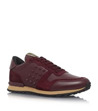 Valentino Stud Running Trainers Male Red