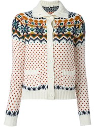 Vanessa Bruno Athe Patterned Cardigan White