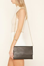 Forever 21 Faux Leather Foldover Clutch