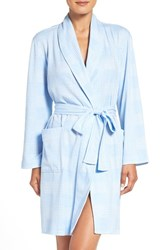 Lauren Ralph Lauren Women's Cotton Blend Robe Blue Plaid