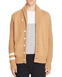 Rag And Bone Zachary Wool Cashmere Shawl Cardigan Sweater Camel