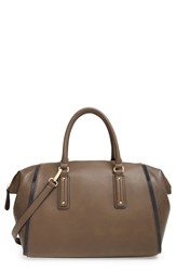 Sole Society 'Medium Coraline' Structured Faux Leather Satchel Green Olive