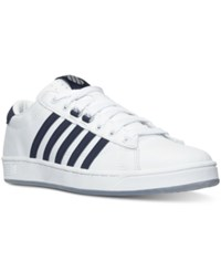 K Swiss Men's Hoke Cmf Casual Sneakers From Finish Line White Navy Ice