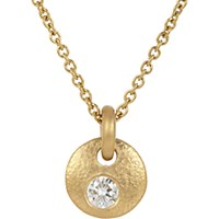 Linda Lee Johnson Women's Diamond And Gold La Poche Chouette Necklace No Color