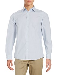 Black Brown Striped Seersucker Sportshirt Optic White
