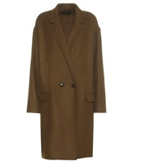 Isabel Marant Filipa Virgin Wool And Cashmere Coat Green