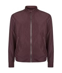 Pal Zileri Lightweight Leather Trimmed Jacket Burgundy