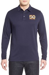 Men's Big And Tall Cutter And Buck 'Denver Broncos Super Bowl 50' Long Sleeve Pima Cotton Polo