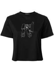Julien David Embroidered T Shirt Black