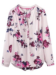 Joules Rosamund Printed Blouse Champagne Floral