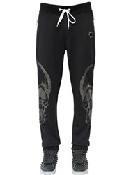 Philipp Plein Swarovski Skull Cotton Jogging Pants