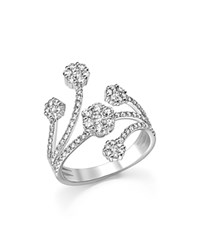 Bloomingdale's Diamond Cluster Statement Ring In 14K White Gold 1.0 Ct. T.W.