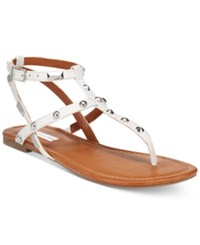 Inc International Concepts Mirabai Flat Sandals Only At Macy's Women's Shoes Bright White
