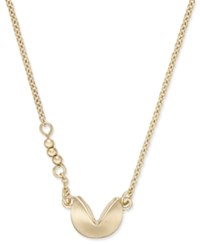 Macy's Fortune Cookie Pendant Necklace Gold