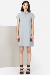 Opening Ceremony Pique Torch Polo Short Sleeve Dress Heather Grey