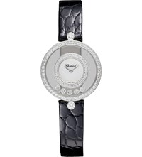 Chopard Happy Diamonds Icons 18Ct White Gold Diamond And Alligator Leather Watch