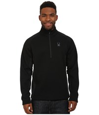 Spyder Outbound Half Zip Mid Weight Core Sweater Black Black Black Men's Sweater