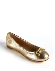Lord And Taylor Dressen Leopard Print Calf Hair Flats Gold