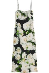 Adam By Adam Lippes Adam Lippes Floral Print Crepe Slip Dress Green