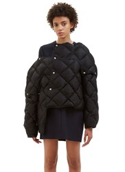 Acne Studios Bobbi Diamond Quilted Puffer Jacket Black